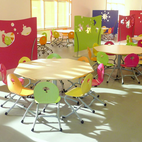 M149 TABLES IVRY, M313 CHAISES 2T3M & M355 CLAUSTRAS PIC & POC