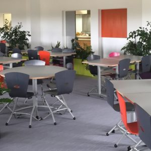 M313 CHAISES TRIANGOLO & M382 TABLES ISSY