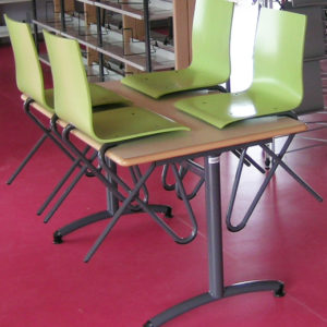 M 351 TABLE SULLY & M390 CHAISES TROMBONE